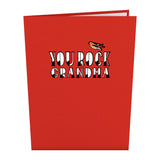 You Rock Grandma                                   pop up card - thumbnail