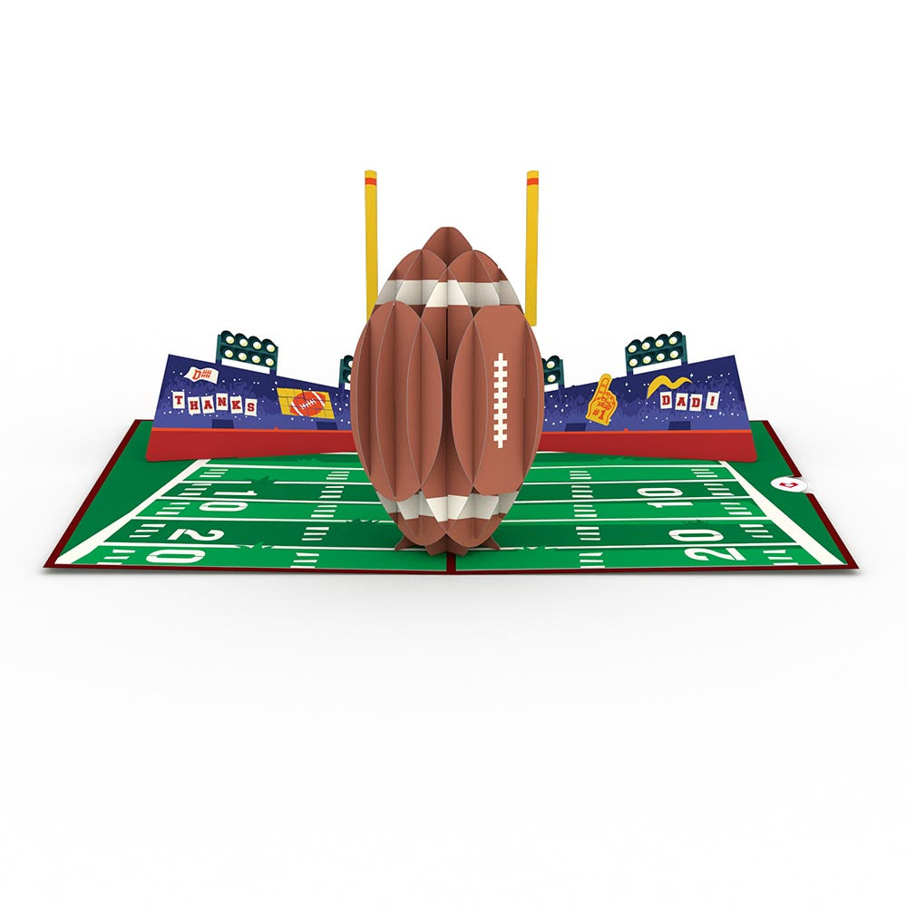 Dad's Touchdown                                             birthday                            pop up card