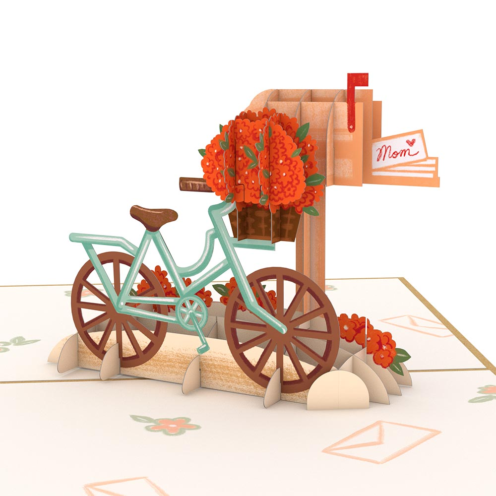 Mother's Day Bicycle Pop Up Card