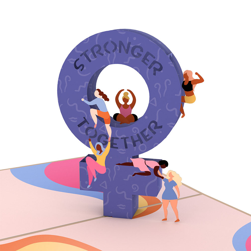 Stronger Together             pop up card