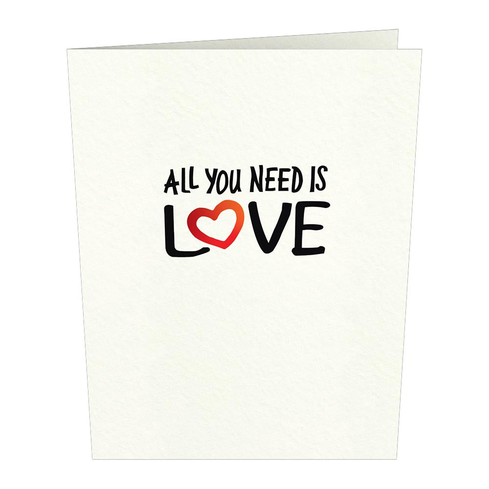 The Beatles All You Need Is Love Notecards (Assorted 4-Pack)             pop up card