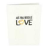 The Beatles All You Need Is Love Notecards (Assorted 4-Pack)                                   pop up card - thumbnail