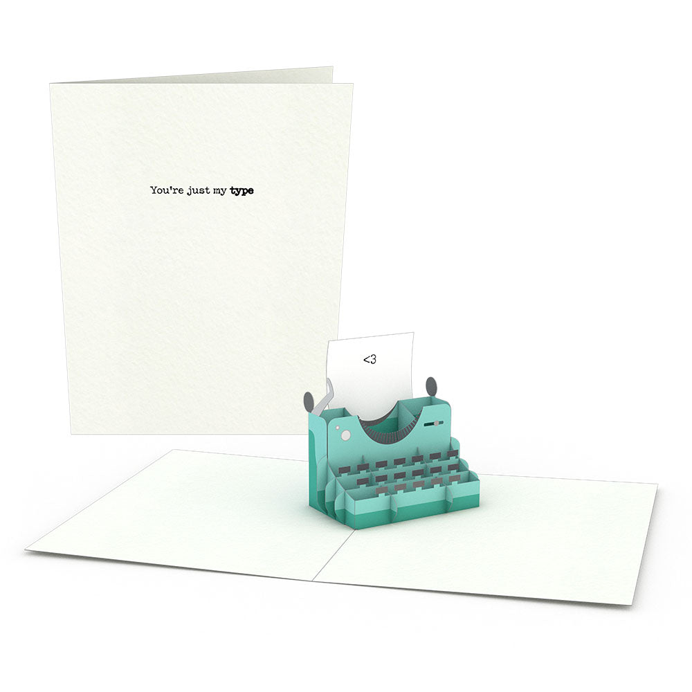 Typewriter Notecards (Assorted 4-Pack)
