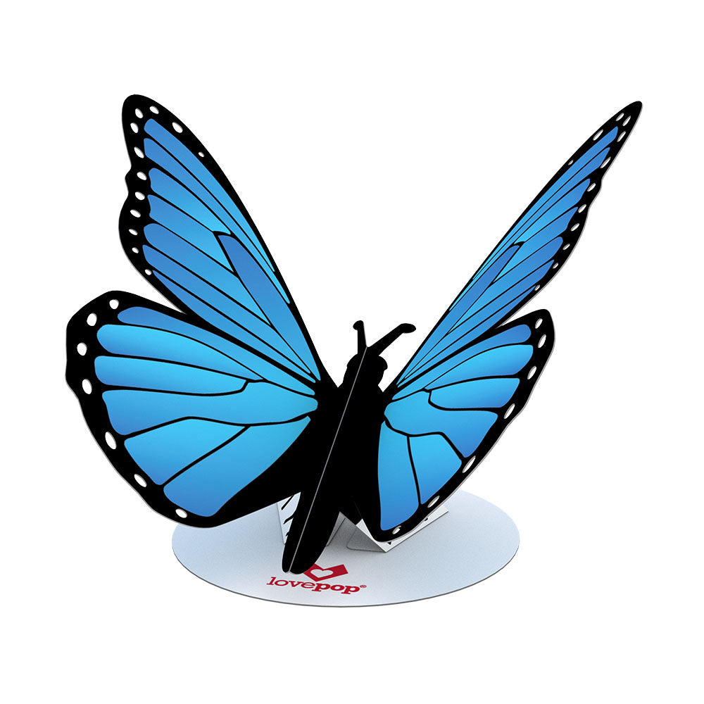 Stickerpop™: Blue Morpho Butterfly (5-Pack)             pop up card