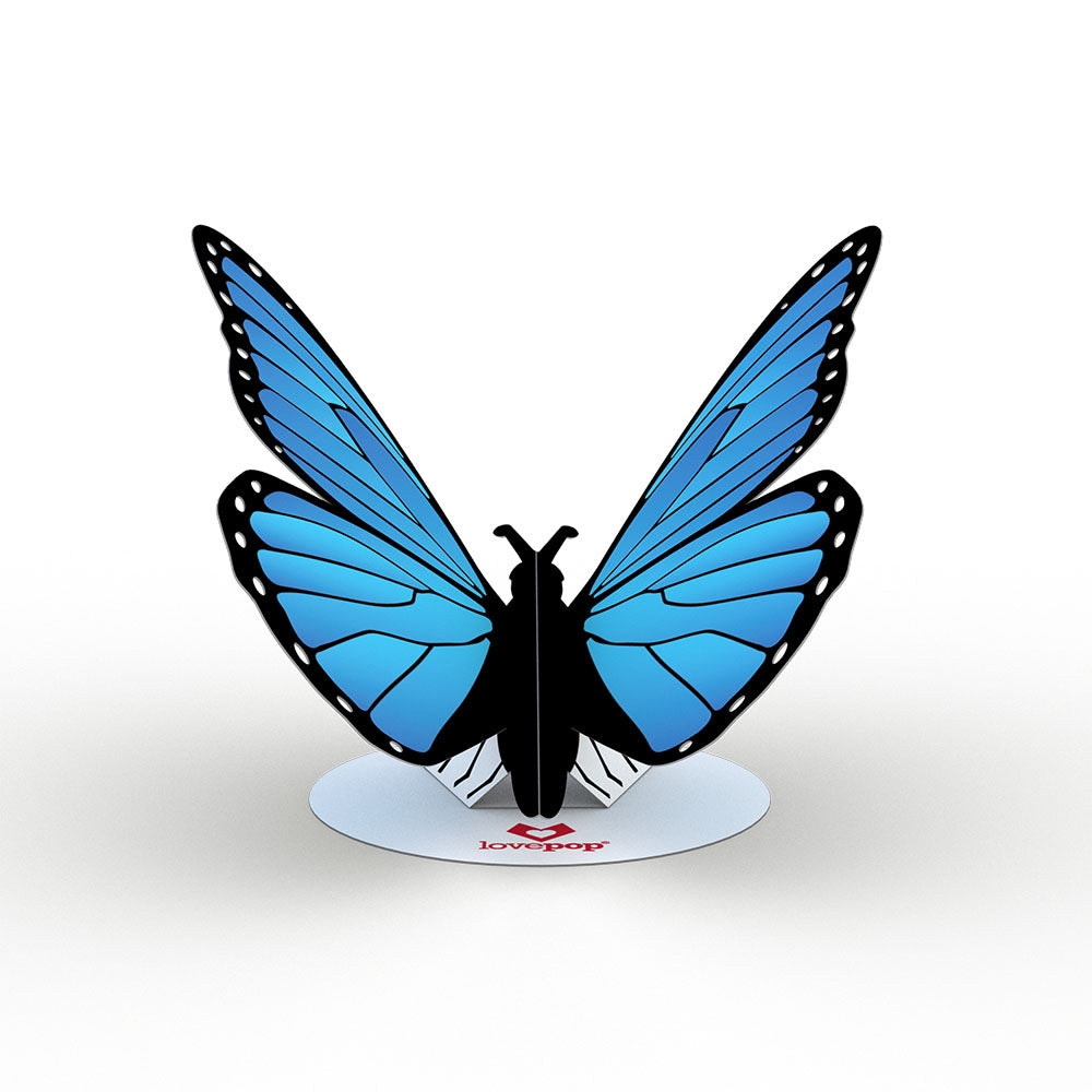 Stickerpop™: Blue Morpho Butterfly (5 Pack)             pop up card