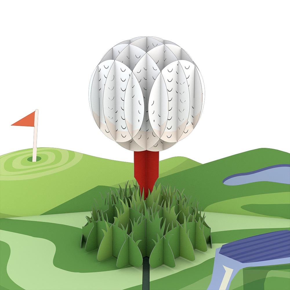 Hole in One                                             birthday                            pop up card
