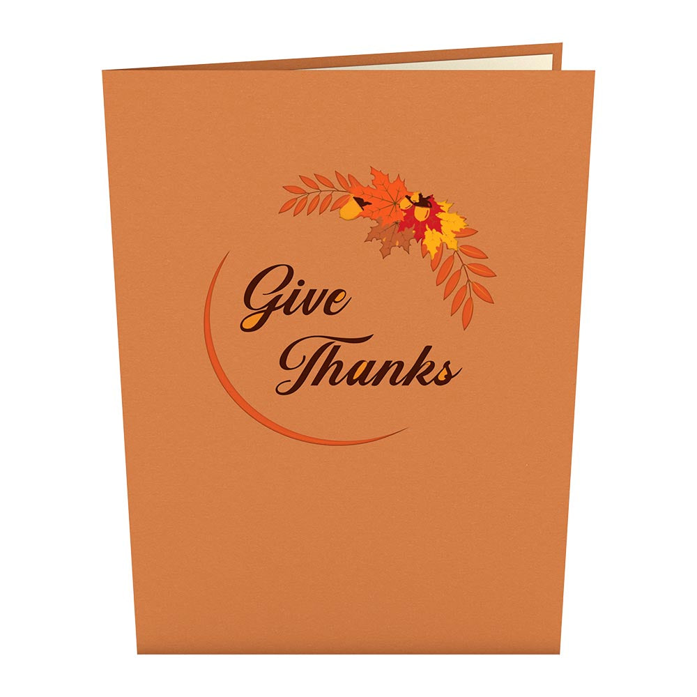 Give Thanks Turkey 3D card