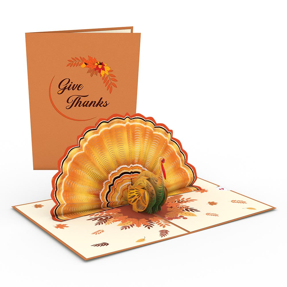 Give Thanks Turkey             pop up card
