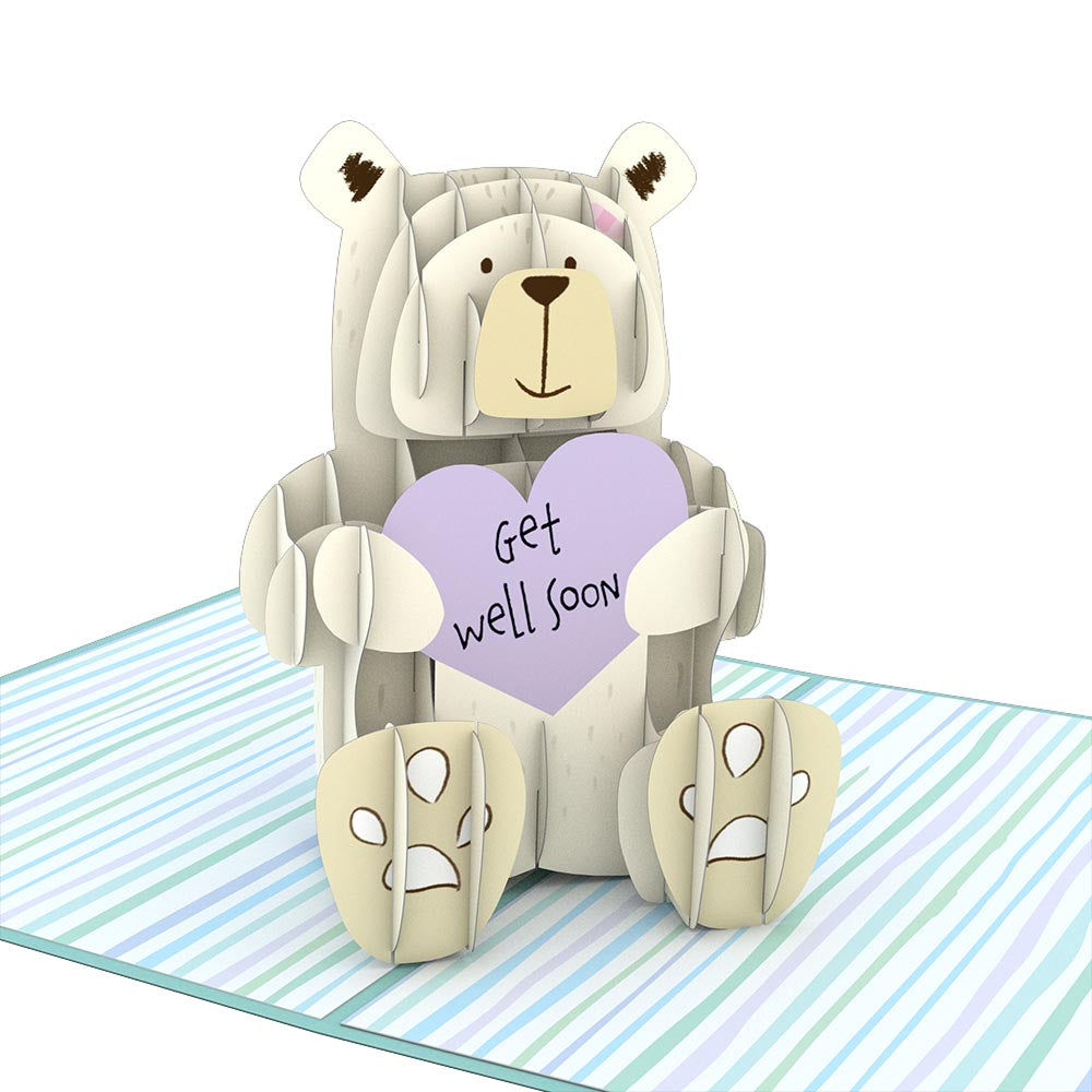 Get Well Bear             pop up card