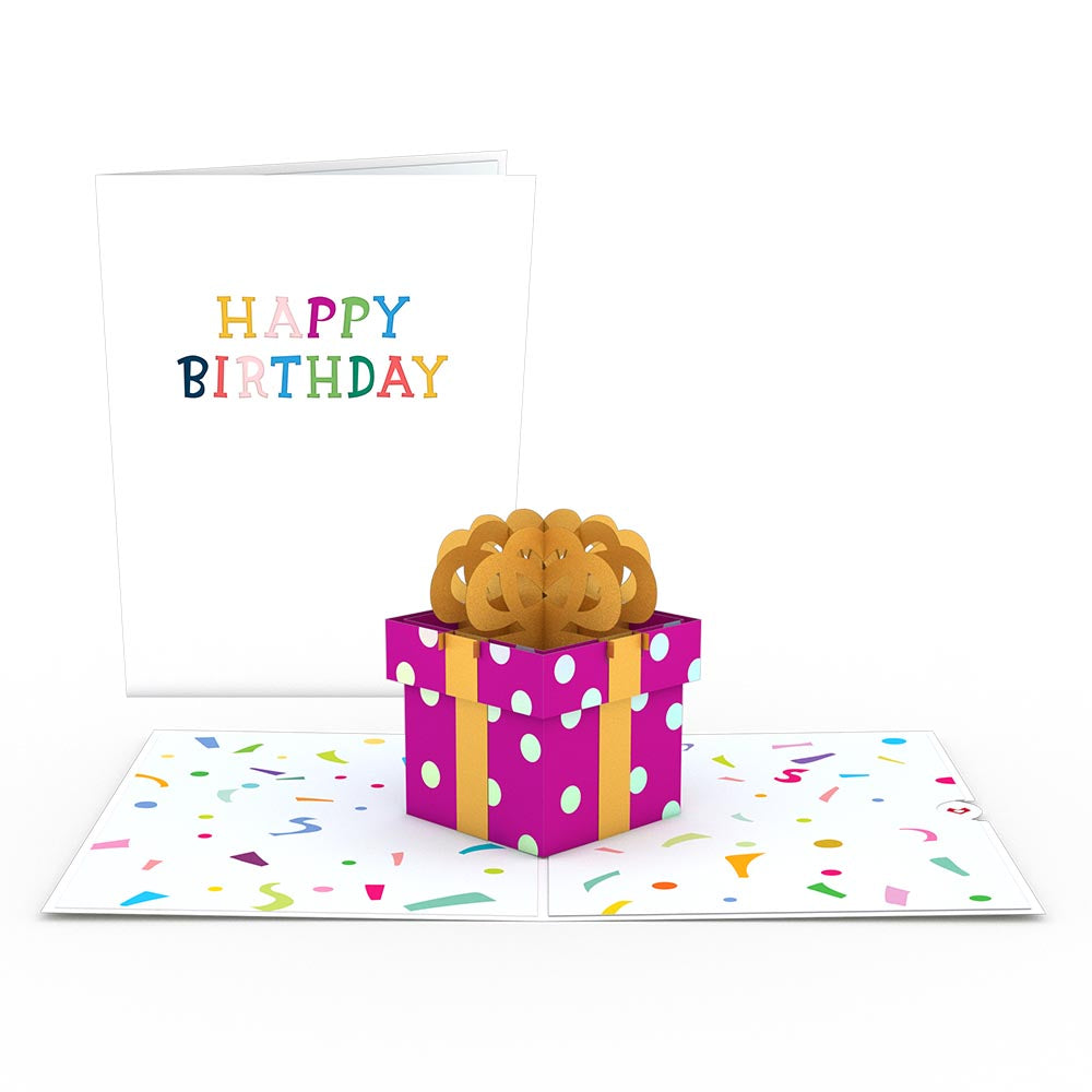 Happy Birthday Present                                         pop up card