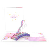 Encouragement Unicorn                                   pop up card - thumbnail