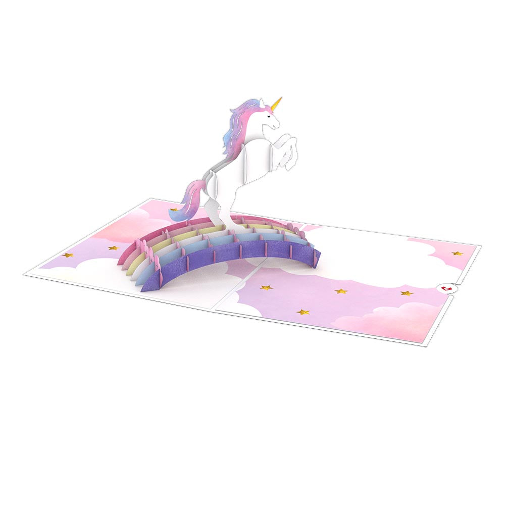 Encouragement Unicorn             pop up card