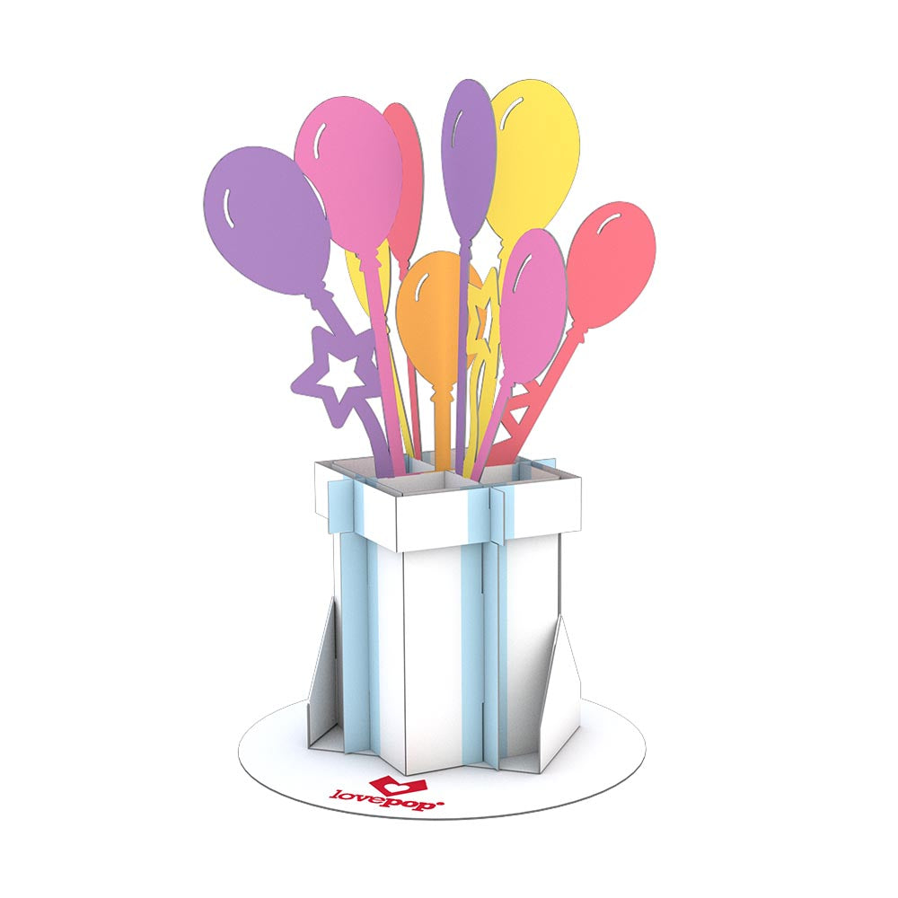 Stickerpop™: Balloon Bunch (1-Pack)                                             birthday                            pop up card