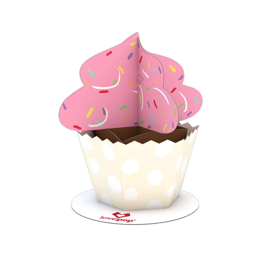 Stickerpop™: Cupcake (1 Pack)                                             birthday                            pop up card