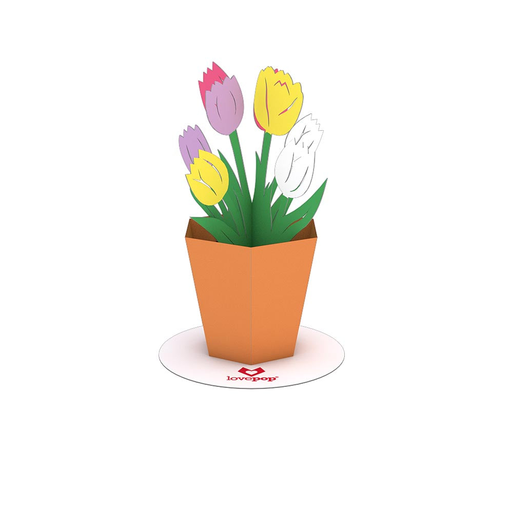 Stickerpop™: Tulips (5-Pack)             pop up card