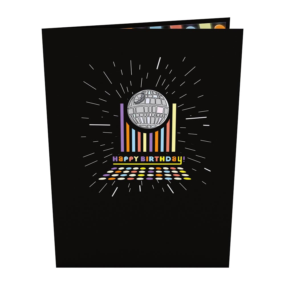 Star Wars™ Death Star™ Disco Birthday                                         pop up card