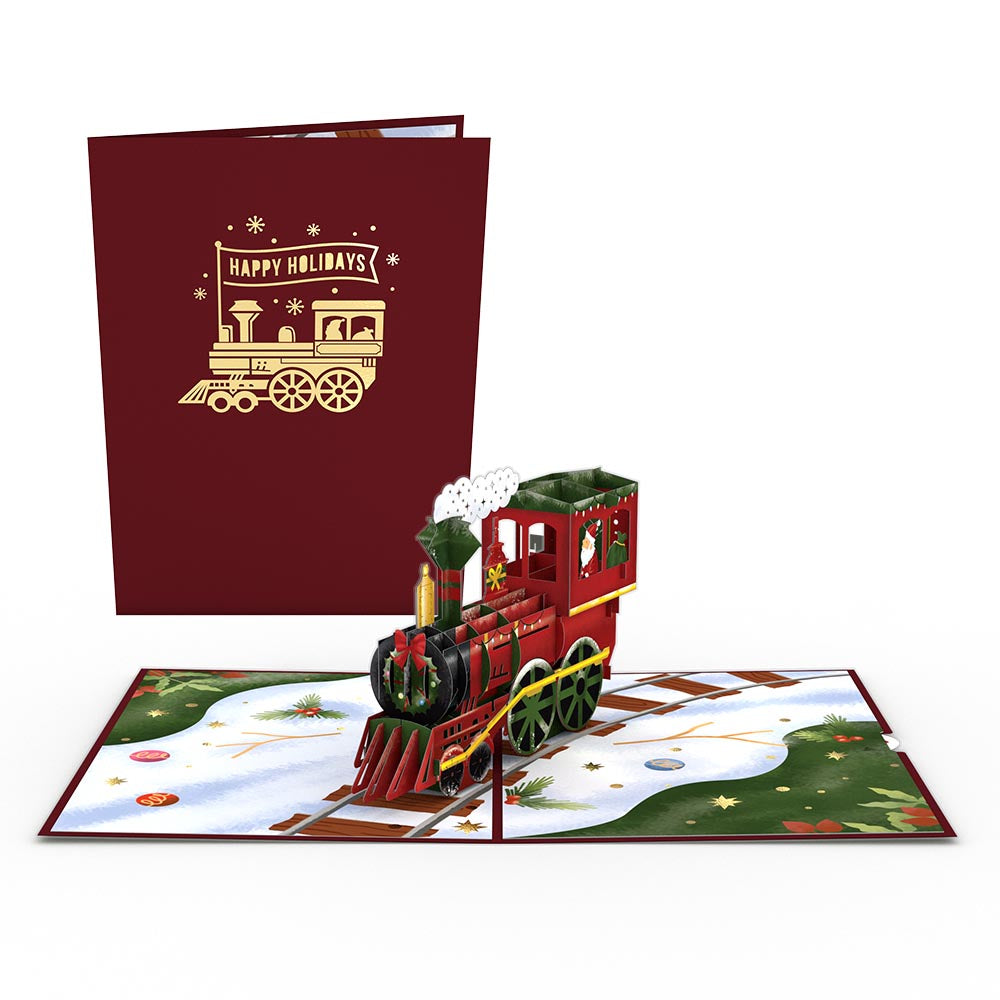 Santa Train             pop up card