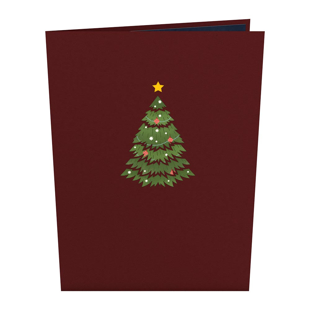 Festive Christmas Tree             pop up card
