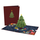 Festive Christmas Tree                                   pop up card - thumbnail