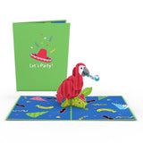 Party Parrot                                                          birthday                                                     pop up card - thumbnail