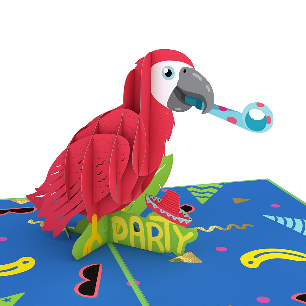 Party Parrot                                             birthday                            pop up card