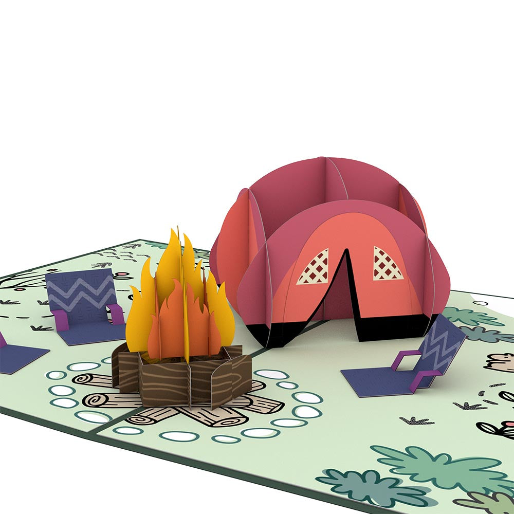 Happy Trails Camping Trip Pop-Up Card