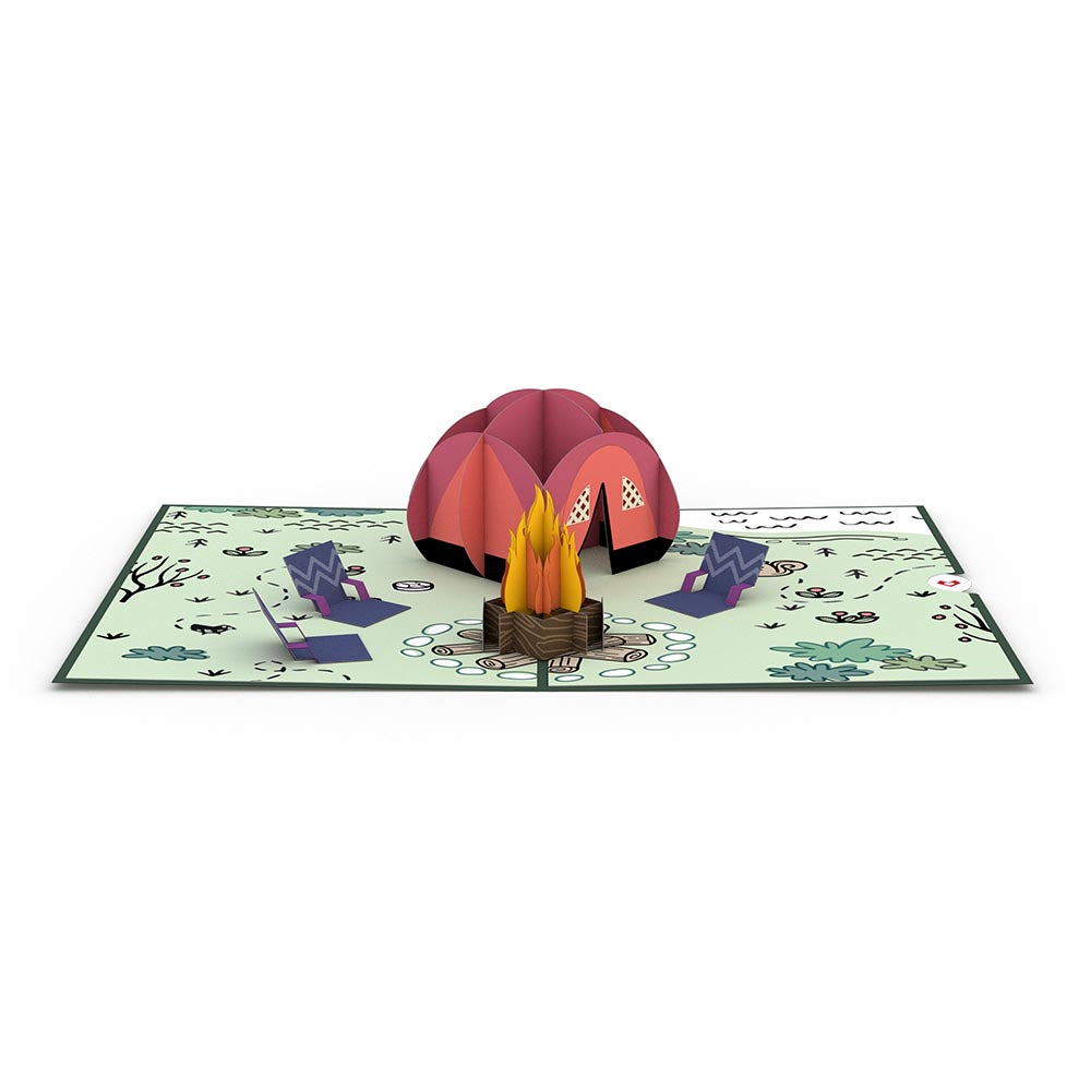 Happy Trails Camping Trip 3D card