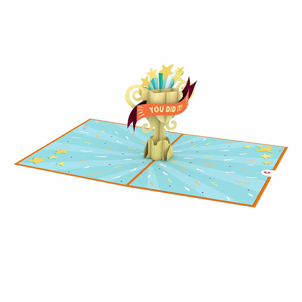 Congrats Trophy             pop up card