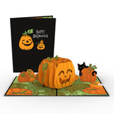 Happy Halloween Pumpkin                                   pop up card - thumbnail