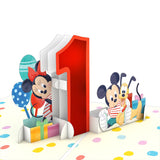Disney's Mickey and Friends 1st Birthday                                                                       pop up card - thumbnail