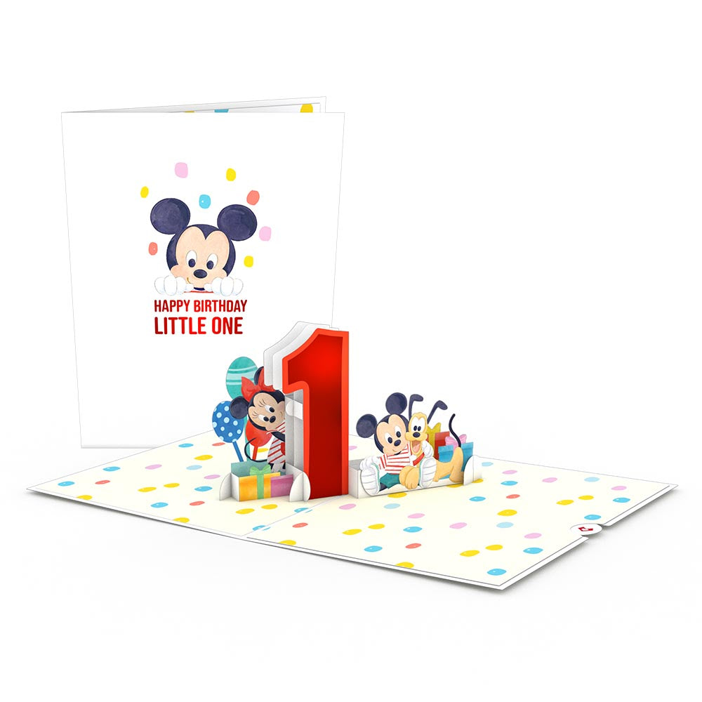 Disney's Mickey and Friends 1st Birthday                                         pop up card