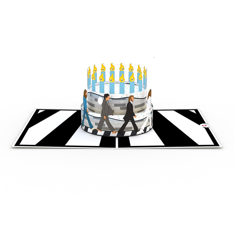 The Beatles Abbey Road Birthday Cake Pop-Up Card