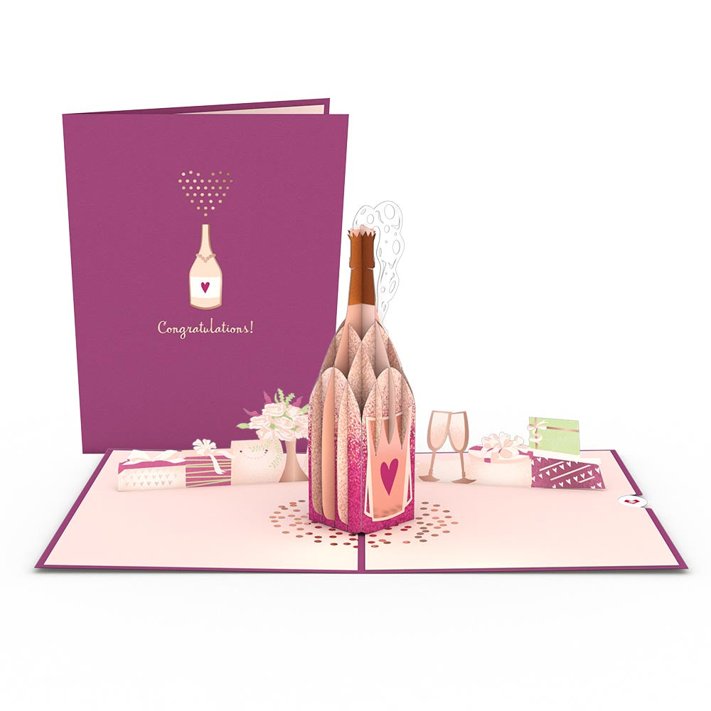 Wedding Champagne             pop up card