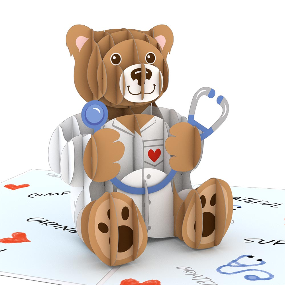 Doctor Bear             pop up card
