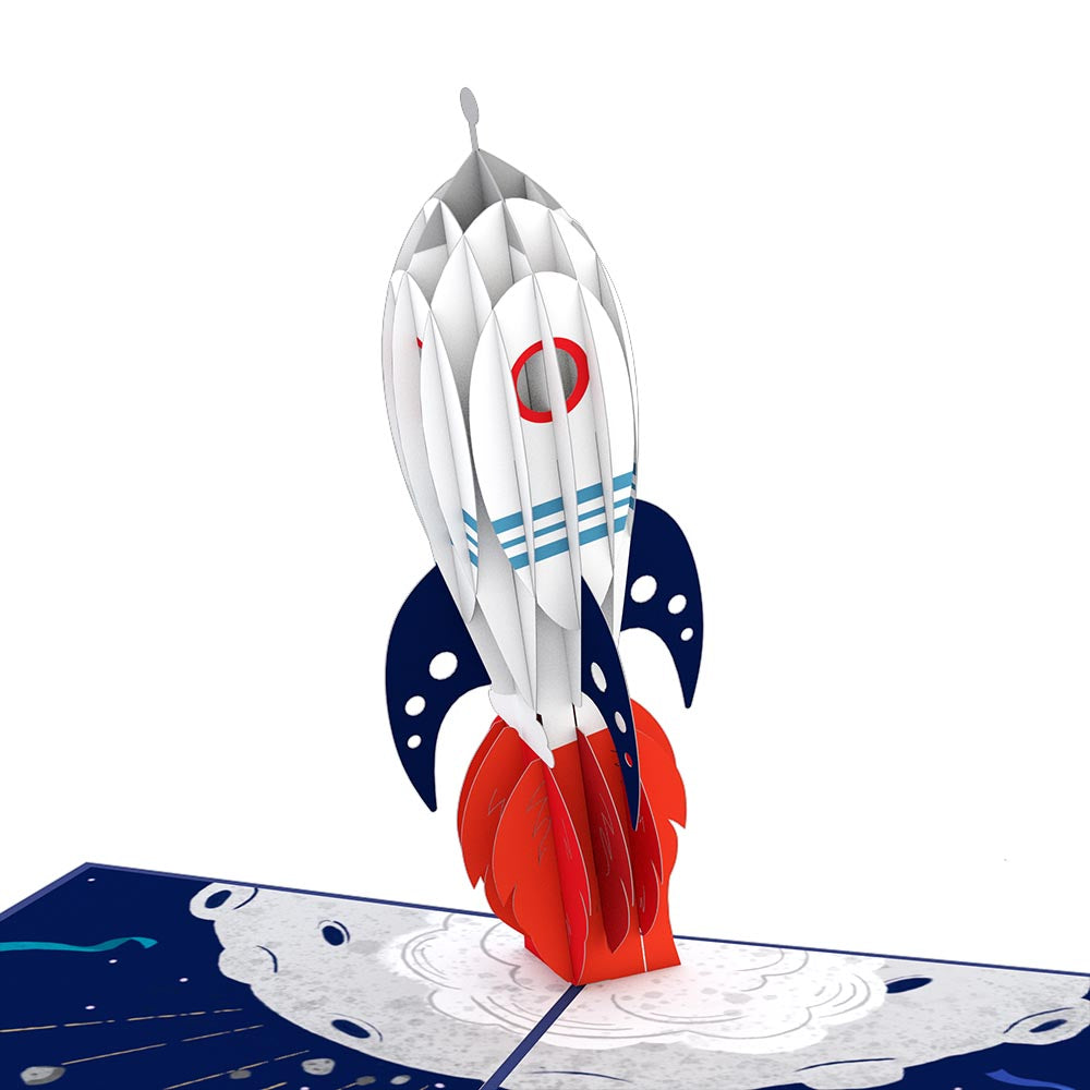 Congrats Rocketship             pop up card