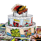 Marvel Comic Birthday Cake                                                                       pop up card - thumbnail