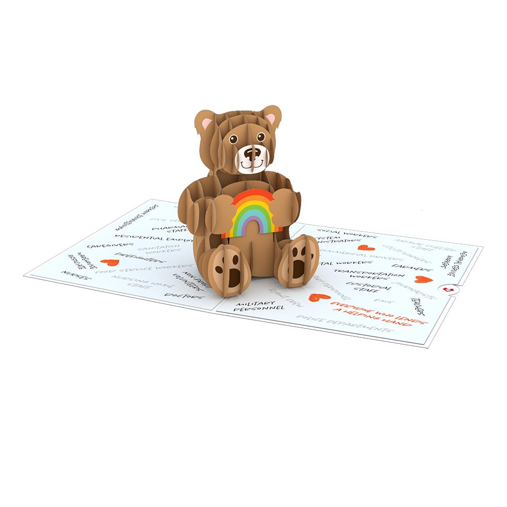 Thank You Bear             pop up card