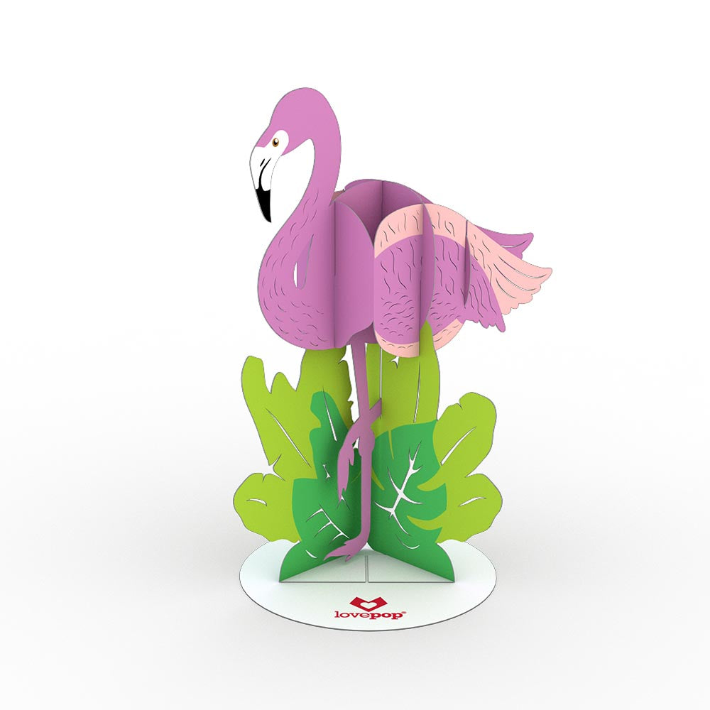 Stickerpop™: Flamingo (5 Pack)             pop up card