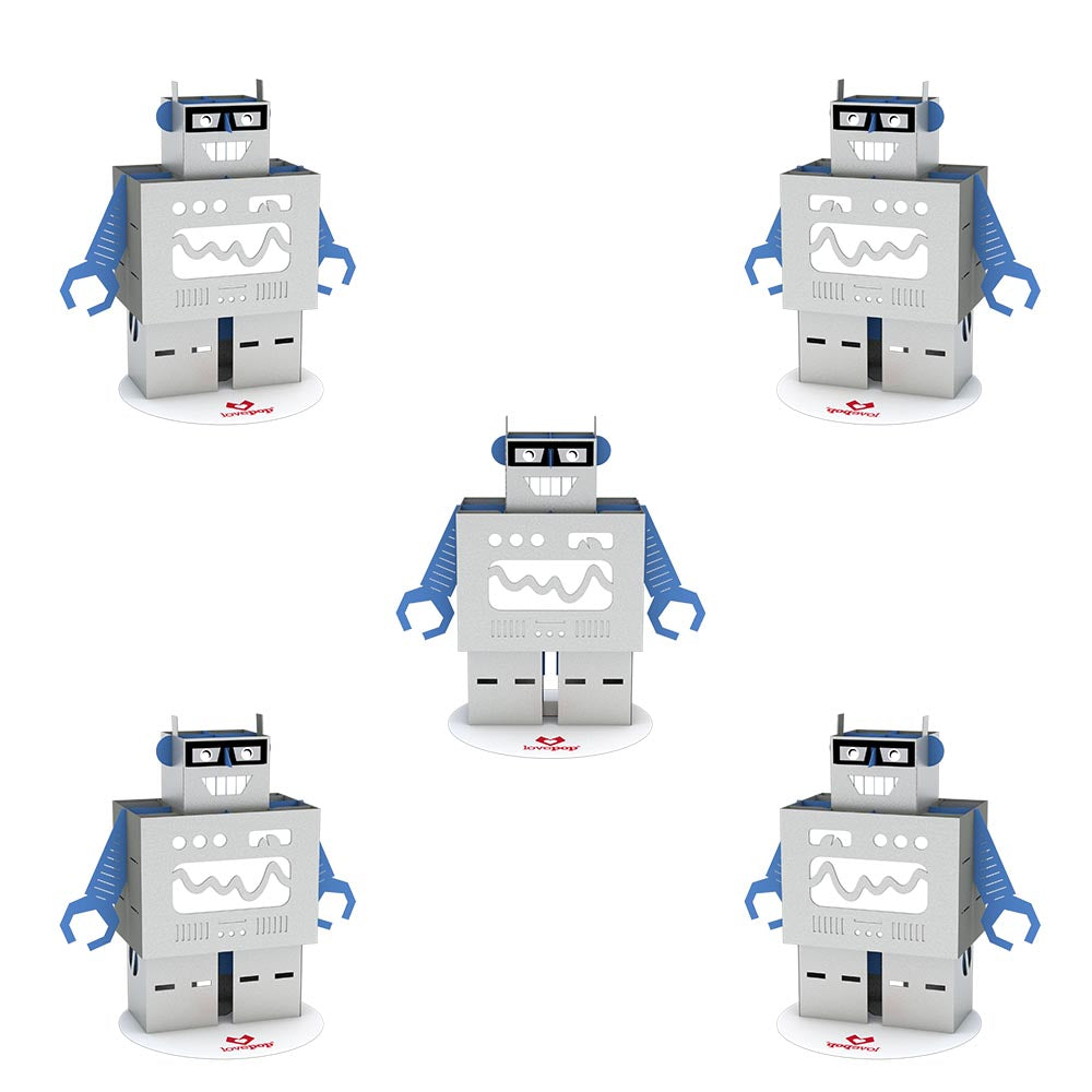 Stickerpop™: Robot (5-Pack)             pop up card