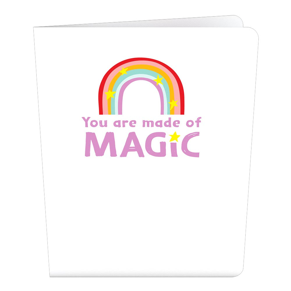 Playpop Card™: You Are Made of Magic Rainbow             pop up card