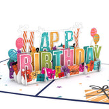 Happy Birthday                                                                       pop up card - thumbnail