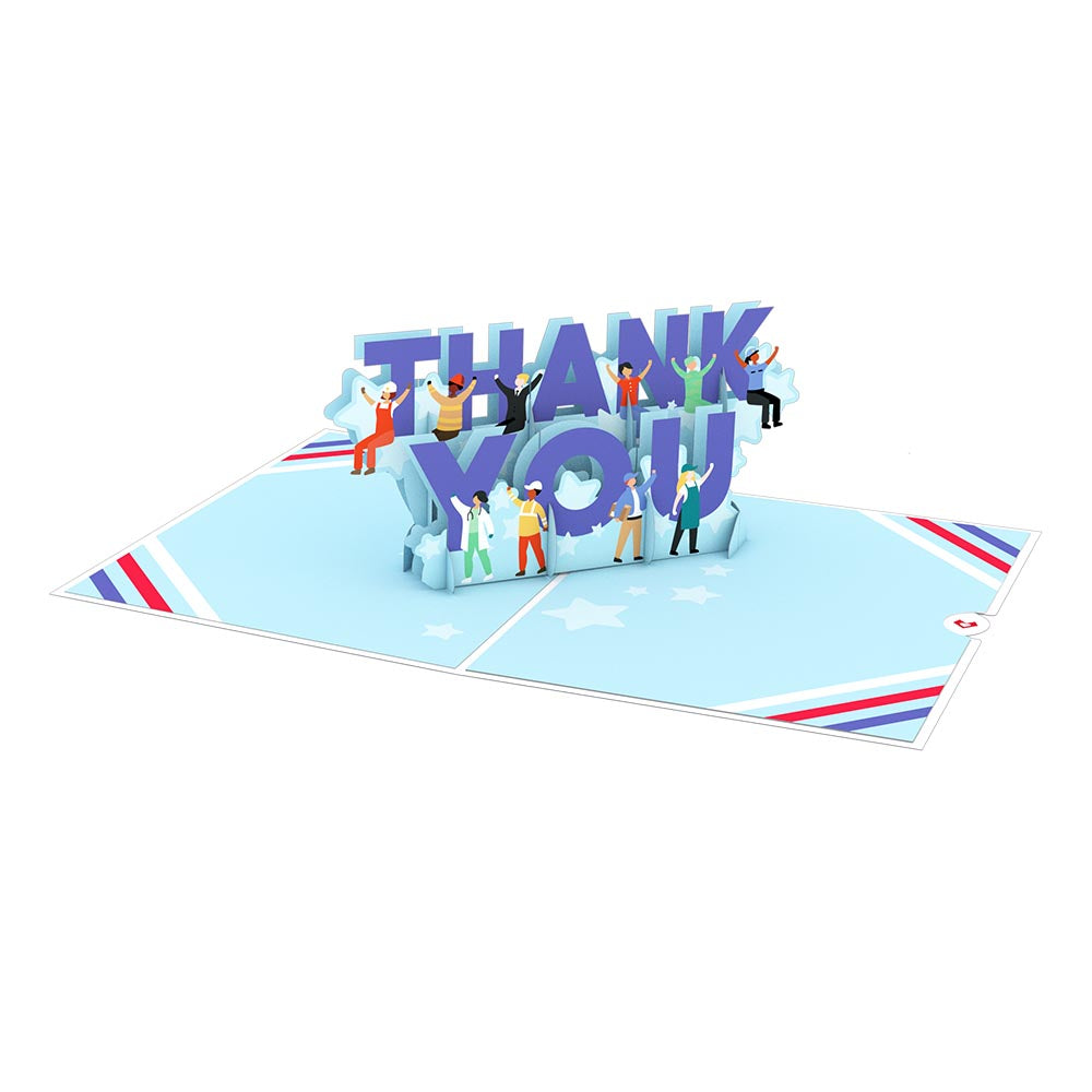 Frontline Thank You             pop up card