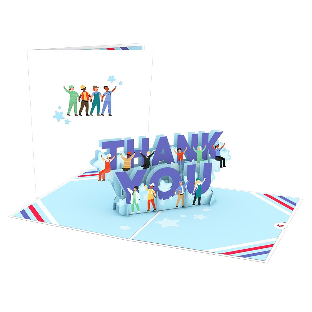 Frontline Thank You 3D card