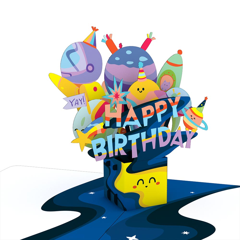 Playpop Card™: Out of This World Birthday
