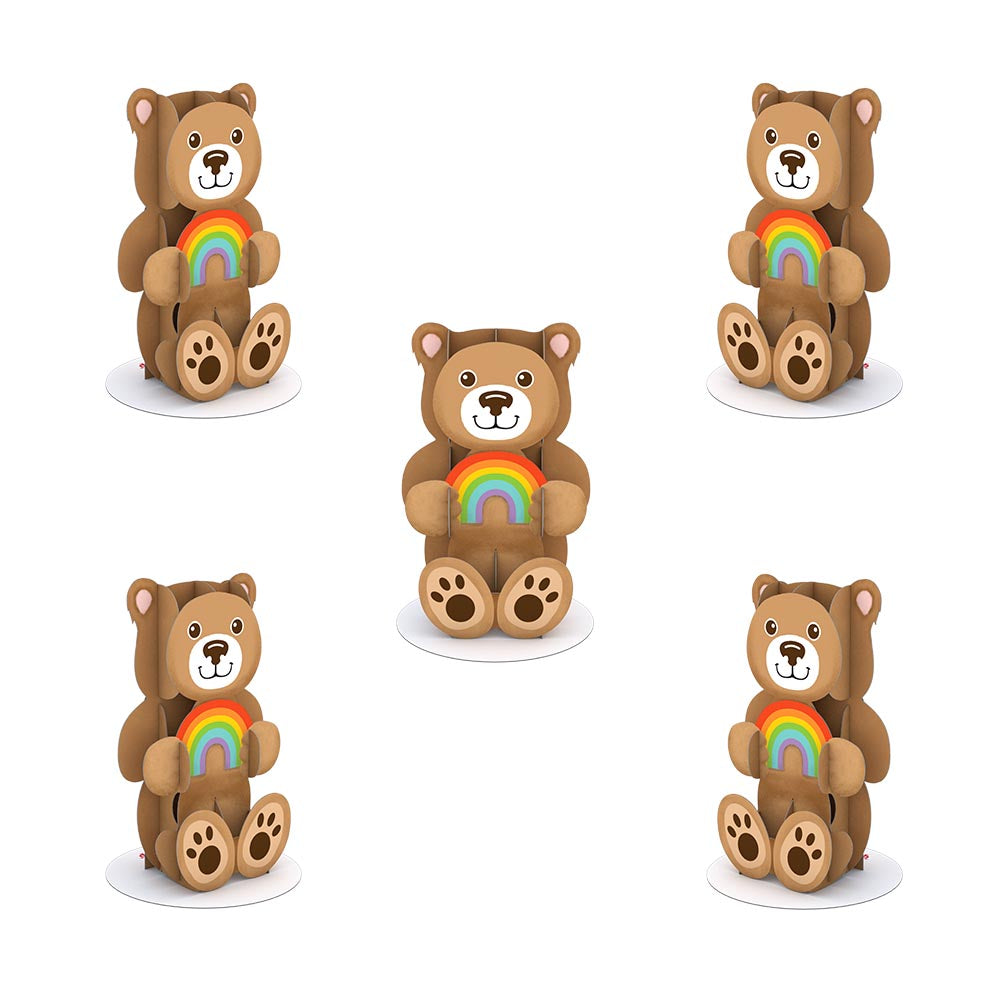 Stickerpop™: Rainbow Bear (5-Pack)             pop up card