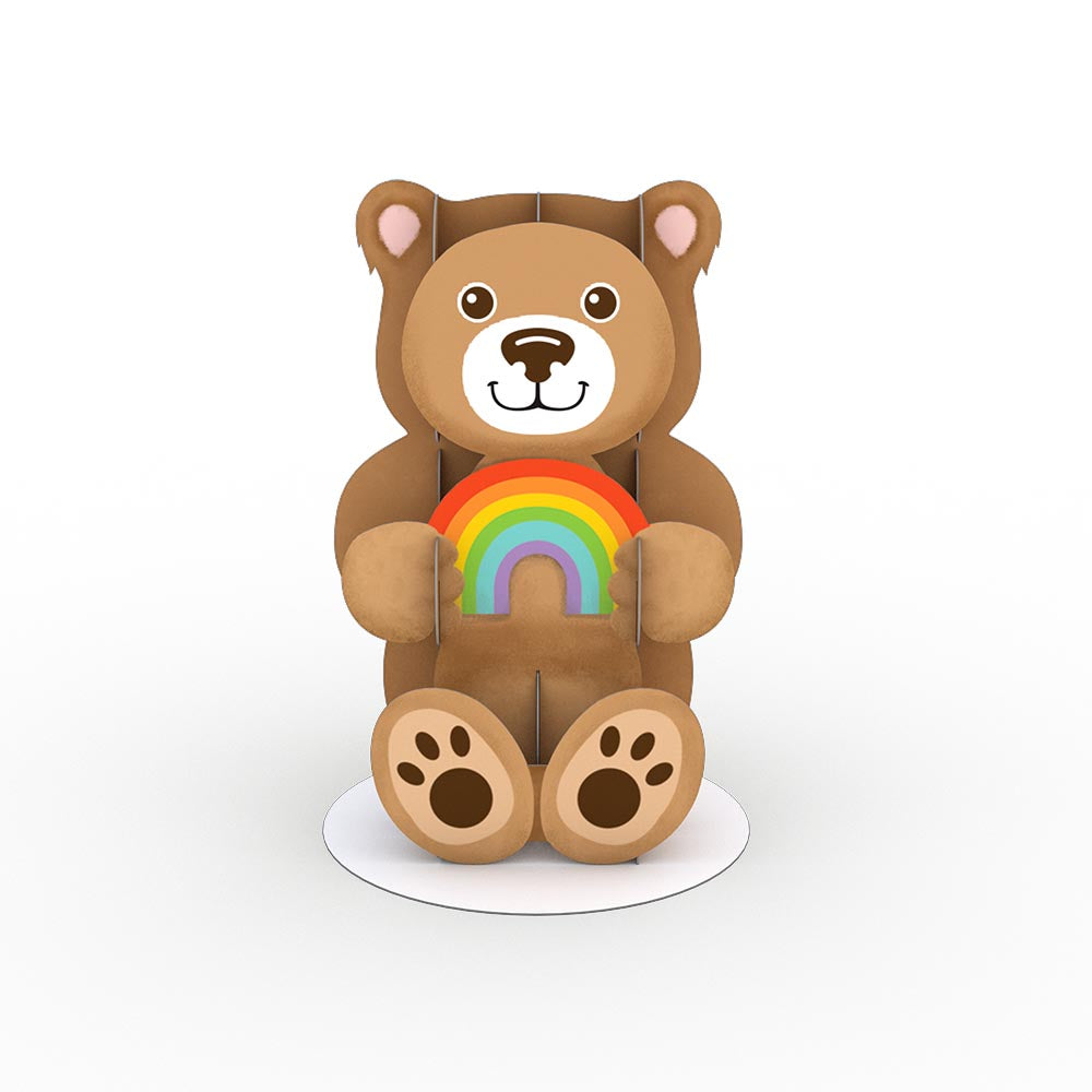 Stickerpop™: Rainbow Bear (1 Pack)             pop up card