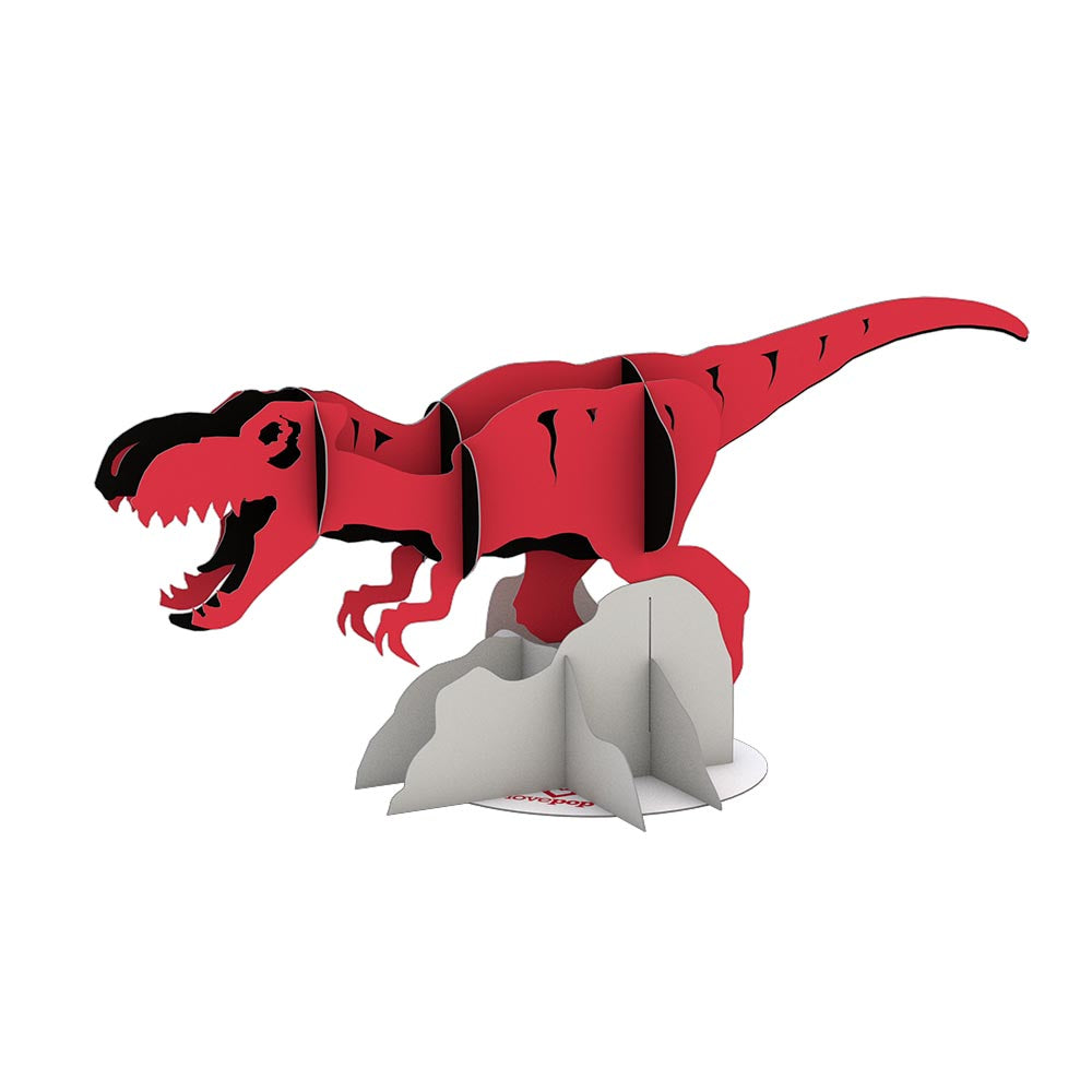 Stickerpop™: T-rex (5-Pack)             pop up card
