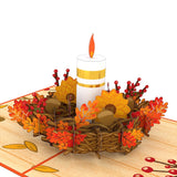 Fall Candle                                   pop up card - thumbnail