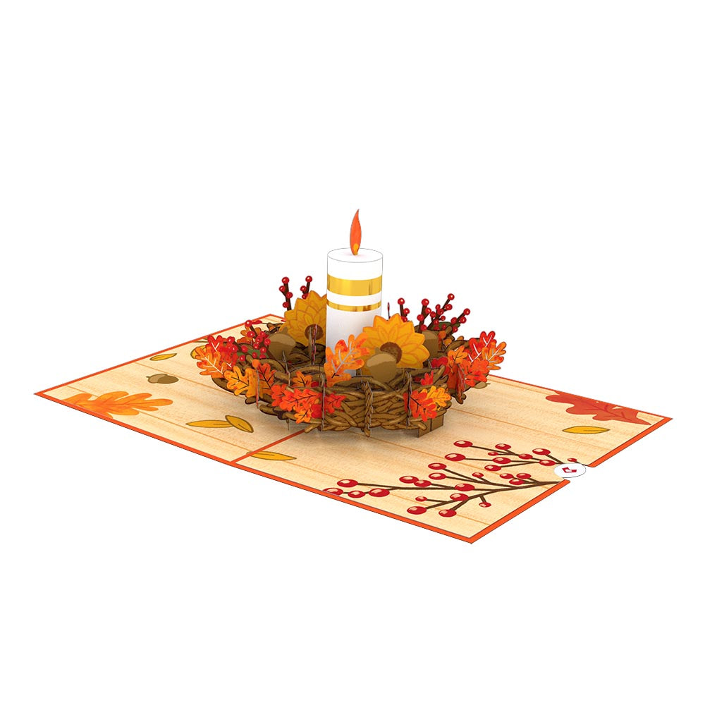 Fall Candle             pop up card