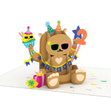 Playpop Card™: 2nd Birthday Bear                                   pop up card - thumbnail